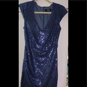 Lulus sequin blue mini dress